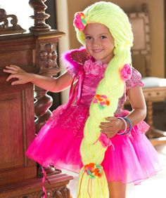 Princess Braid Free Crochet Pattern from Red Heart Yarns #Halloween #costume #wig
