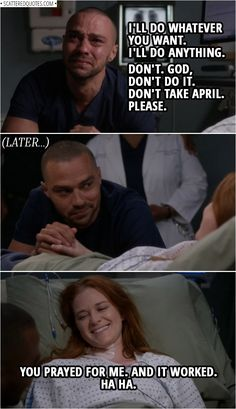 💬 Browse the collection of the best quotes from Grey's Anatomy. One liners, conversations. Greys Anatomy Funny, Greys Anatomy Episodes, Greys Anatomy Couples, Greys Anatomy Facts, Grays Anatomy, Jackson Avery, April And Jackson Baby, Greys Anatomy Jackson, Grey's Anatomy April