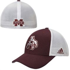 6ec884c54d53e adidas Mississippi State Bulldogs Heathered Meshback Flex Hat Mississippi  State Bulldogs