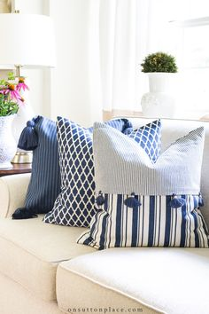 DIY Budget Decorating with Pillows - On Sutton Place