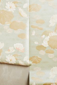 Lily Pad Wallpaper #anthropologie master bedroom