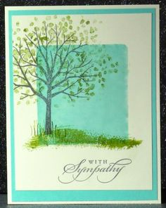 CC532 Sheltering Tree Sympathy by Broom - Cards and Paper Crafts at Splitcoaststampers