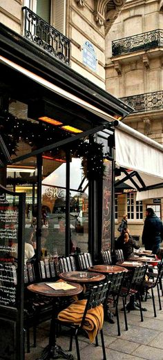 I do Love Paris and Coffee and Pastries.I wonder if they Serve Champagne.Cafe in Paris, France Places To Travel, Places To Go, Time Travel, Belle France, Ile Saint Louis, St Louis, Sidewalk Cafe, French Cafe, French Bistro