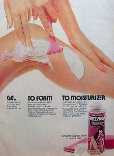 shaving cream ads vintage | 1972 CRAZY LEGS Womens Shaving Cream Vintage 1970s Ad - a photo on ...