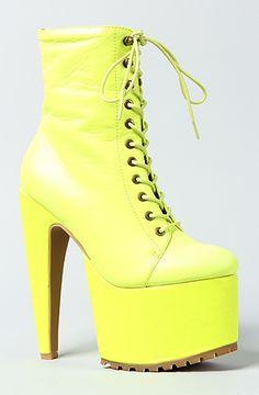 neon yellow ballet flats spikes | buy now jeffrey campbell women s the jeffrey campbell x human aliens ...