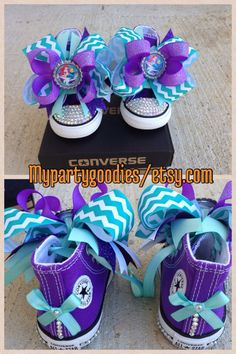 Hey, I found this really awesome Etsy listing at https://www.etsy.com/listing/212629805/ariel-shoes-the-little-mermaid-converse