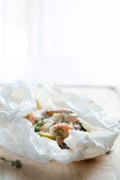 Shrimp & Rainbow Quinoa en Papillote | Jelly Toast
