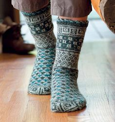 "Nancy Bush writes in the book, ""I began the socks with"