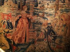 ::Surroundings::: Isabella Stewart Gardner Museum: The Tapestry Room. Detail of 16th century tapestry, photo by Linda Merrill
