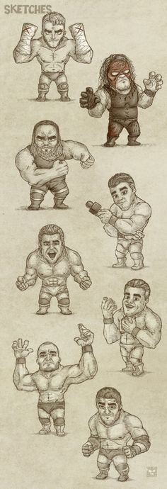 Copyright WWE Characters #sketch #drawing