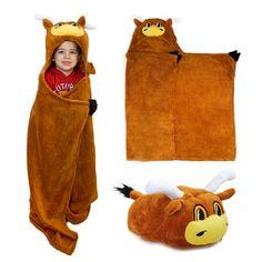 MascotWare Texas Longhorn Huggable Hooded Blanket