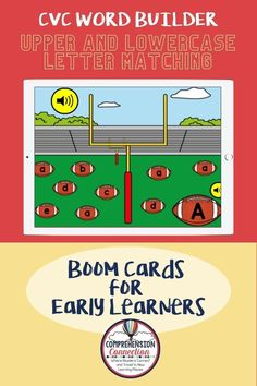 In this football themed letter matching game, students click and drag the footballs labeled with the correct lowercase letter that matches the uppercase letter provided to the football goal. Oral directions included for independent work. Upper And Lowercase Letters, Lower Case Letters, Lowercase A, Alphabet Letters, Letter Matching Game, Matching Games, Learning Place, Thing 1, Common Core Reading