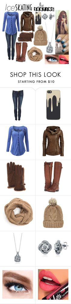 """""""Ice Skating"""" by xautumnxrainx ❤ liked on Polyvore featuring Juicy Couture, Zero Gravity, Danier, FRR, Naturalizer, Chicnova Fashion, BERRICLE, Maybelline and Fiebiger"""