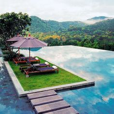 A #MomentofZen: Going off the grid and on to this piece of poolside paradise in Chiang Mai