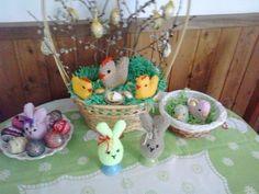 Velikonoční pletená výzdoba