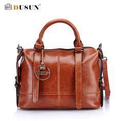 DUSUN Women's Casual Handbags Genuine Leather Shoulder Bag Women Messenger Bag High Quality Fashion Women Bag Bolsa Feminina