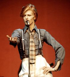 American idol ... performing in New York in 1974 on the Diamond Dogs tour