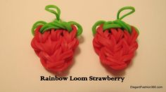Updated: Rainbow Loom Strawberry Charm - How to Change colours to red at top, pink middle and white bottom for a radish! :)