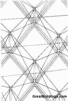 Great Buildings Drawing - Pyramide du Louvre