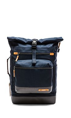f6a0c8976606 Tumi Dalston Ridley Roll Top Backpack in Navy Mens Designer Backpacks
