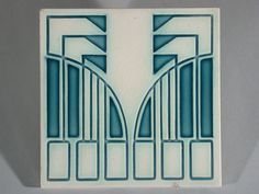 Art Nouveau Tile Mettlach - Peter Behrens ------------------------------------------SOLD