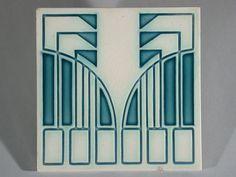 Art Nouveau Tile Mettlach - Peter Behrens                                                                                                                                                                                 More