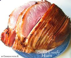 A Southern Classic!  Easy Baked Country Ham {Based with Classic Coke}