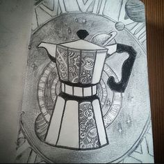 provocative-planet-pics-please.tumblr.com The finished product. I see about 100 little things Id like to change about it that Im too tired to change now. Whatever. Ur never satisfied anyways. Tell me what you think. And beware the space- and time travelling coffee machine! It is very evil and will the over the world! #spacecoffee #coffeemachine #coffeetime #timetravel #space #spacetravel #outerspace #tattooidea #pencildrawing #planets #solarsystems #blackholes #stardust #starlight #artislife…