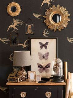 Maisons du Monde Milord tendency: Inspired by art déco and 1920s, this collection features a lot of blue gray hues, hints of gold, arabesques, velvet and other elegant fabrics.   See the post for more tendencies and details. #artdeco