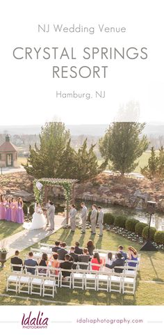 Venue Spotlight on Crystal Springs Resort in Hamburg, NJ. Nj Wedding Venues, Lodge Wedding, Wedding Locations, Wedding Tips, Crystal Springs Resort, Spring Wedding, Spotlight, Honey Brook, Wedding Photography