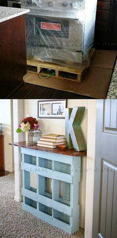 DIY Recycled Pallet Console Table
