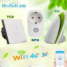 >> Click to Buy << Broadlink Home Automation,TC2 EU Wifi Light Switch+A1 e-Air Quality Detector+SP3 EU Smart Socket,Remote Control For Smart Home #Affiliate