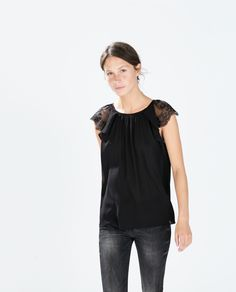 Image 3 of SLEEVELESS LACE TOP from Zara