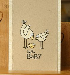 Hello Baby DIY Card   AllFreePaperCrafts.com