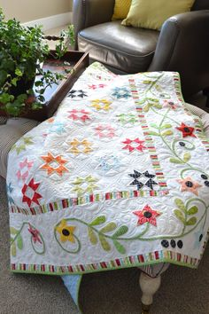 Star Dance by Jill Finley love this quilting