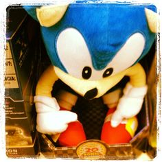 "In the Sonic the Hedgehog cartoon, Jaleel White (""Steve Urkel"") was the voice of Sonic. #toystore"