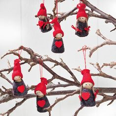 scandinavian swedish danish norwegian pixie christmas ornaments box of 6 7242 ebay norwegian christmas