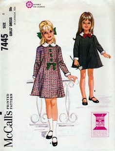 McCall's 7445 © 1964.  Considered by some experts to be an unmarked Helen Lee design.