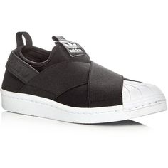 new concept c0f35 b015f Adidas Womens Superstar Slip-On Sneakers (1,405 MXN) ❤ liked on Polyvore  featuring