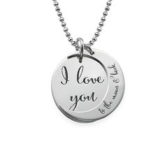 I Love You to the Moon and Back Necklace | MyNameNecklace