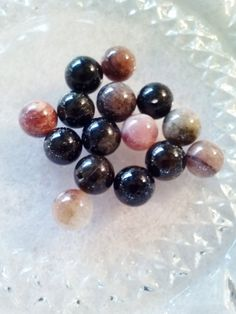 8mm Natural Tourmaline Gemstone Beads  15 beads by SkullMoto