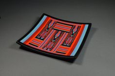 Queen of Hearts - Fused Glass, Pattern Bar, Strip Construction
