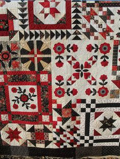 by Jessica's Quilting Studio, via Flickr. I love sampler quilts!