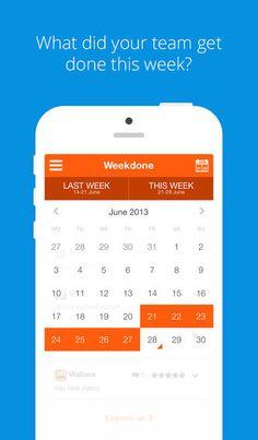 Weekdone iOS app