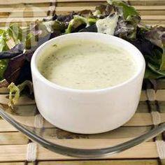 VINAIGRETTE DEESSE VERTE (vinaigre, échalotes, persil, anchois, ail, jus de citron et mayonnaise)