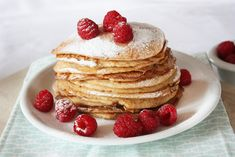 Pancake Cake, Ricotta Pancakes, My Cookbook, Breakfast Muffins, Clean Eating Recipes, Food Inspiration, Low Carb Recipes, Love Food, Food To Make