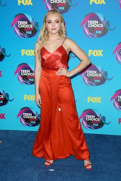 Peyton List is red hot at the TCAs.