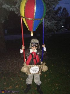 Amy: My 8 year old daughter Isabella is wearing this costume. The idea came from Isabella after seeing a hot air balloon. I made it using a large balloon which I...