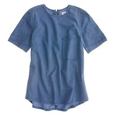 Madewell 	Denim Tee in Wild Chicory Wash