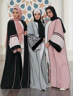 Women's Maxi open Abaya – Just Trendy Girls If you are looking for a particularly glamorous look, you should buy a chiffon open abaya cardigan. Open abaya cardigan is a perfect fit for evening occasions Islamic Fashion, Muslim Fashion, Modest Fashion, Fashion Outfits, Mode Abaya, Mode Hijab, New Abaya Style, Latest Bridal Dresses, Wedding Dresses